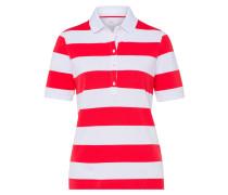 Poloshirt 'Cleo' rot / weiß