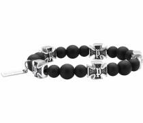 Armband 'pj26169Bss.01' schwarz / silber