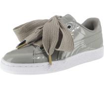 Sneaker 'Basket Heart Patent' silbergrau