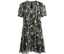 Kleid hellblau / schwarz / weiß