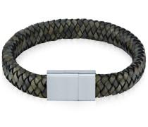 Echtlederarmband grau