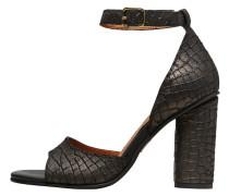 Leder Sandalen schwarz
