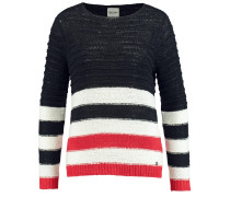 Pullover navy / hellrot / weiß