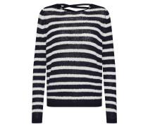 Pullover 'onlNEW Gabbi' nachtblau / weiß