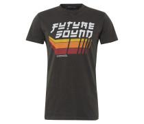 T-Shirt 'fut' orange / schwarz / weiß