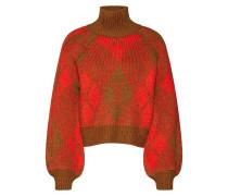 Pullover 'argyle Deco' cognac / rot