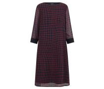 Kleid kobaltblau / rot