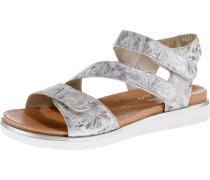 Sandale rauchgrau / silber