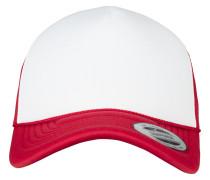 Cap 'Foam Trucker Curved Visor' rot / weiß