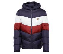 Winterjacke weiß / rostrot / navy