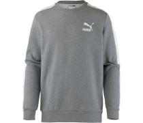 'Classics T7' Sweatshirt graumeliert