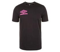 T-Shirt neonpink / schwarz