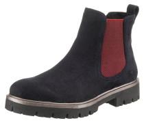 Chelsea Boots blau / blutrot
