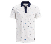 Poloshirt blau / weiß