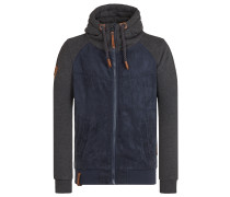 Jacke dunkelblau / graumeliert