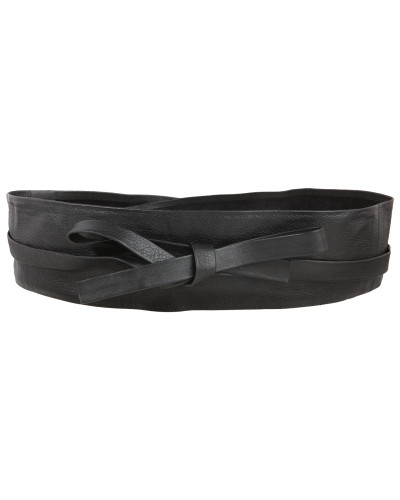 Taillengürtel aus Leder schwarz