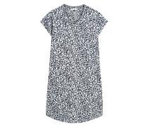 Nachthemd 'Carla Cas' blau / weiß