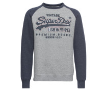 Sweater navy / graumeliert