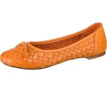 Klassische Ballerinas orange