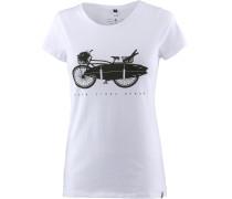 'surf Bike' T-Shirt schwarz / weiß