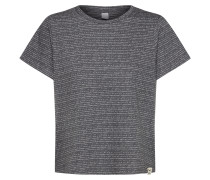 T-Shirt 'Broken Stripe' schwarz