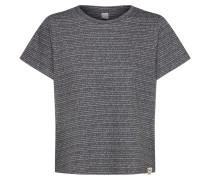 T-Shirt 'Broken Stripe' dunkelgrau