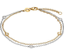 Armband gold / silber / transparent