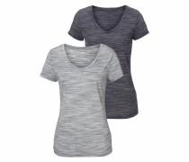 V-Shirts grau / schwarz
