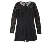 Overall 'dtc Sheer Lace Sleeve Romper'