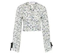 Bluse 'Tonja' grün / lila / weiß