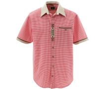 Trachtenhemd im Karo-Design rot / weiß