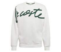 Sweatshirt dunkelgrün / offwhite