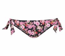 Bikinihose 'Blümli' pink / schwarz
