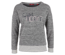 Sweatshirt mit Kontrast-Bündchen