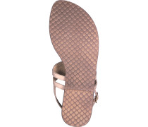 Zehentrenner Sandale puder