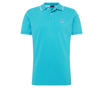 Shirt 'polo S/S W/graphic' blau