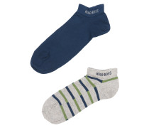 Socken im 2er-Pack blau / grau