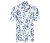 Kurzarmhemd 'Emanuel' blau / weiß