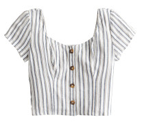 Bluse 's119-Ss Linen Button Front'