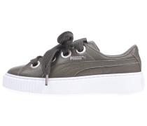 Sneaker 'Platform Kiss Lea' taupe / weiß