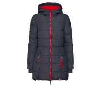 Jacke 'tall Sports Puffer' navy / rot
