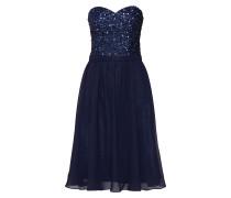 Kleid 'beaded S/heart' navy / mischfarben