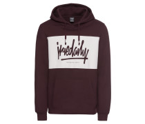 Hoodie 'Tagg Hooded' creme / bordeaux