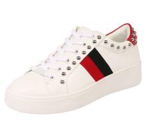 Sneaker 'belle' mit Nieten weiß
