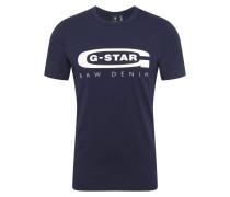 T-Shirt 'Graphic 4' dunkelblau / weiß