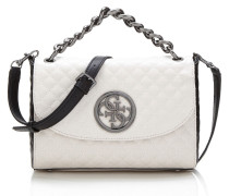 Handtasche 'G Lux' hellgrau / schwarz