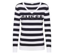 Pullover 'Megan' weiß / schwarz