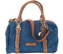 Sonja Handtasche 27 cm blau / cognac