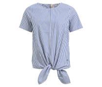 Bluse 'lielupe' blau / weiß