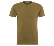 T-Shirt mit Brusttasche 'Kurt' oliv